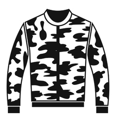 Camouflage jacket icon simple style vector