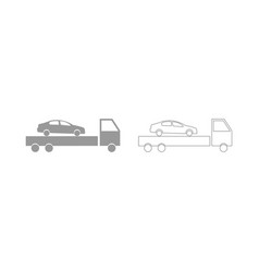 Car service the grey set icon vector