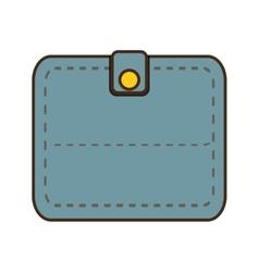 Cartoon blue wallet save money icon vector