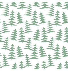 christmas tree decoration seamless pattern vector image