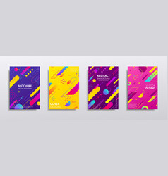 Covers with geometric pattern vector