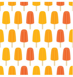 Creamsicle popsicle ice cream seamless pattern vector