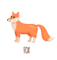 cute fox in flat style vector image
