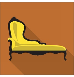 Digital vintage black and yellow sofa vector image