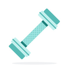 dumbbell for gym flat isolated vector image