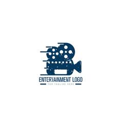 Entertainment video logo designs retro logo vector