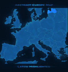 europe abstract map latvia vector image