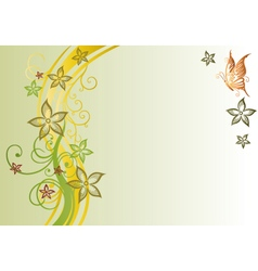 Filigree flowers autumn vector image