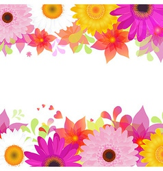 Flower Background With Gerber And Leafs vector