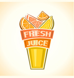 fresh citrus juice vector image