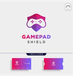 Game shield logo design template icon element vector