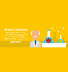 Genetic modification banner horizontal concept vector