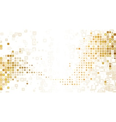 Gold mosaic composition vector