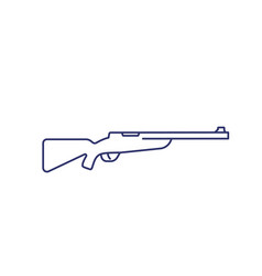hunting rifle line icon on white vector image
