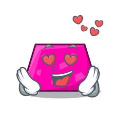 in love trapezoid mascot cartoon style vector image