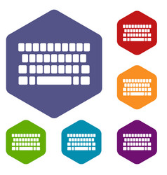 Keyboard icon simple style vector