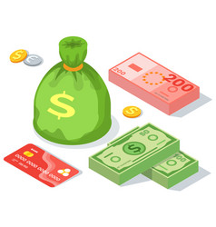 Means payment various elements concept big vector
