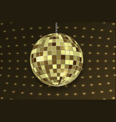 mirror disco ball isolated template for your vector image