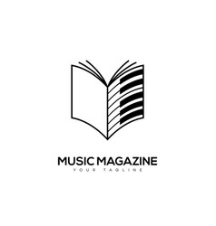 Music magazine logo vector