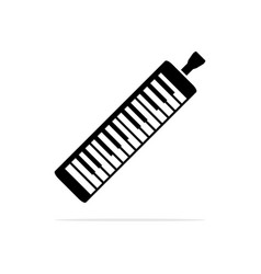 musical instrument melodica icon concept vector image
