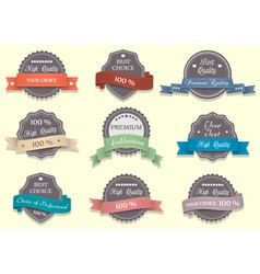 Nine Premium Quality labels vector image