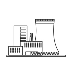 nuclear plant icon vector image