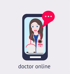 Online medical consultation and support online vector