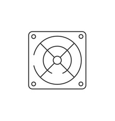 Power supply linear icon on white background vector
