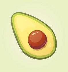 realistic fresh avocado fruit vector image