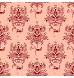 Red paisley seamless pattern vector