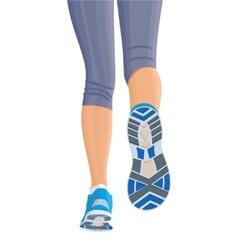 Runing female legs vector image