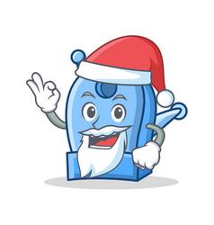 Santa pencil sharpener character cartoon vector