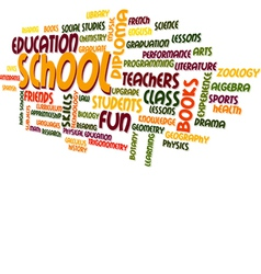 School Word Cloud Bubble Tag Tree vector image