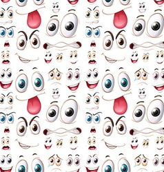 Seamless emotions vector image vector image