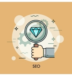 Search Engine Optimization thin line icon logo vector