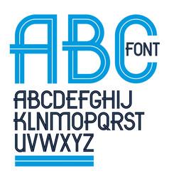 Set upper case english alphabet letters vector