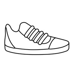 shoes clothing cartoon vector image
