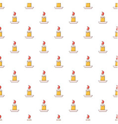 Simple candle pattern seamless vector