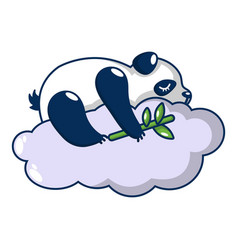 Sleeping panda icon cartoon style vector