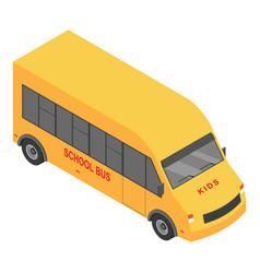 small school bus icon isometric style vector image