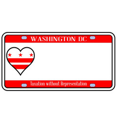 Washington dc license plate vector