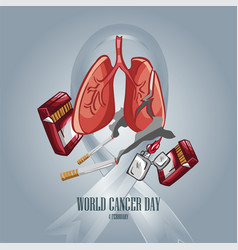 world cancer day-14 vector image
