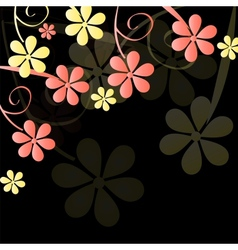 Abstract nature background with leaves vector image vector image