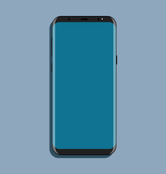 mock-up black smartphone with blue screen flat vector image vector image