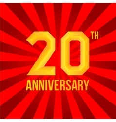 Bright anniversary poster vector image vector image