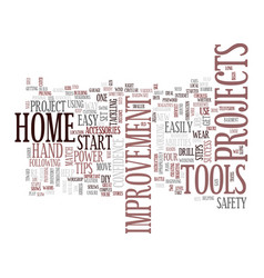 four easy steps to home improvement success text vector image vector image