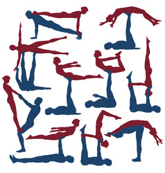 acroyoga poses vector image