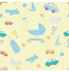 Baby boy layette funny pattern vector image vector image