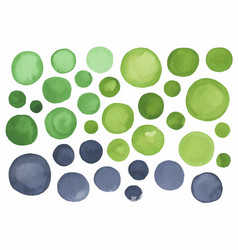big set of gray green watercolor label vector image vector image