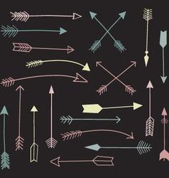 Chalkboard Hand Draw Arrow vector image vector image